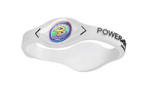 Power Balance Silikon Armband white/black